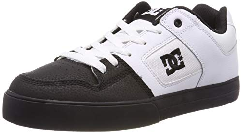 DC Shoes Herren Pure Skateboardschuhe Weiß (White Black WLK)), 45 EU -