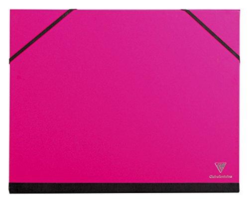 Clairefontaine 44606C Zeichenmappe (Gummizug, DIN A4+, 26 x 33 cm, ideal zur Aufbewahrung Ihrer Werke) fuchsia
