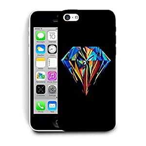 Snoogg Abstract Diamond Art Printed Protective Phone Back Case Cover For Apple Iphone 5C