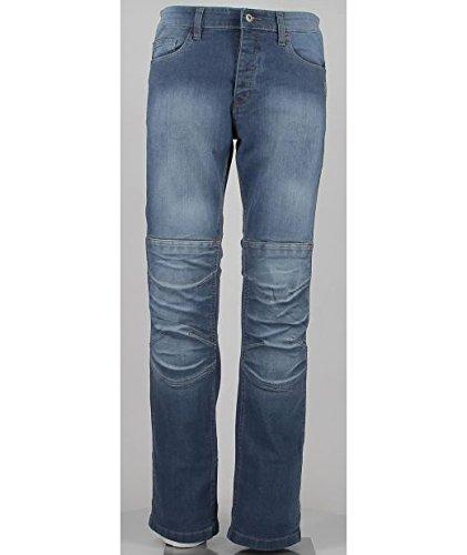 Oj giove man jeans 4 stagioni tessuto esterno in denim elasticizzato, blu, 48