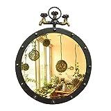 En acier inoxydable rond miroir de décoration murale de la salle de bain miroir suspendu miroir bar décoration murale de la salle de bain miroir (taille : 50 cm)