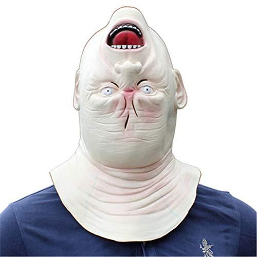 Kostüm Scary Alien - QWER Halloween Erwachsene Maske Zombie Maske Latex Blutig Scary Alien Devil Vollmaske Kostüm Party Cosplay Prop,White