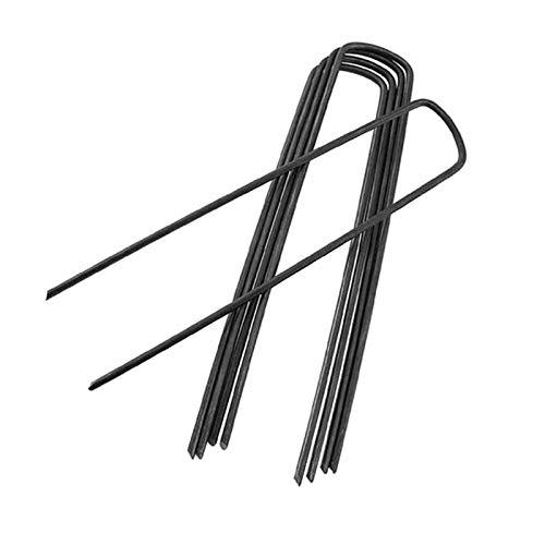 Kafen Eisenpfahl - 100 Stück U-Form Gartenform Sicherung von Erdnägeln Eisenspitzen - Grasnadeln Pegs Sod Staples Verankerung der Barriere von falschen Kräutern zur Befestigung
