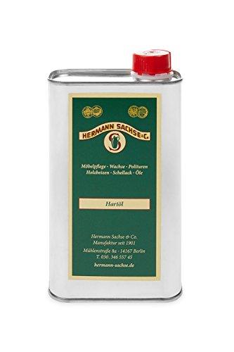 Hermann Sachse Holzöl Hartöl farblos für innen 500ml Natur Möbelpflegeöl für Tisch Türen Möbel aus Holz natürliche Holzpflege Eichenmöbel Wildeiche Kernbuche lösemittelfrei -