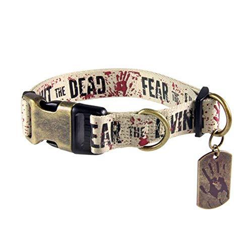 Unbekannt The Walking Dead - Hunde Halsband - Fight The Dead Fear The Living (S-XL) (XL) (Michonne Kostüm Hund)