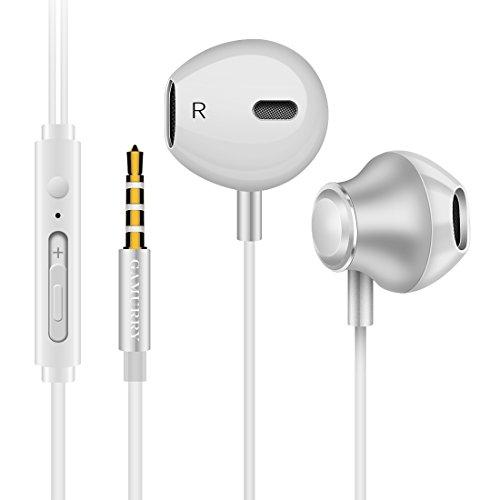 Auricolari stereo in-ear con super bassi profondi,dotate di microfono e controller volume/chiamata, cavo da 3,5 mm compatibili con /ipod/ipad/lettori mp3/samsung galaxy/nokia/htc/nexus/blackberry etc. (bianco)
