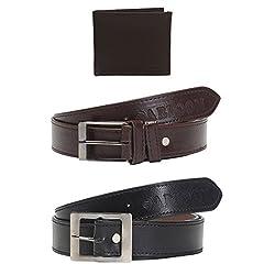 Mens 2 Belts Belts & wallet combo