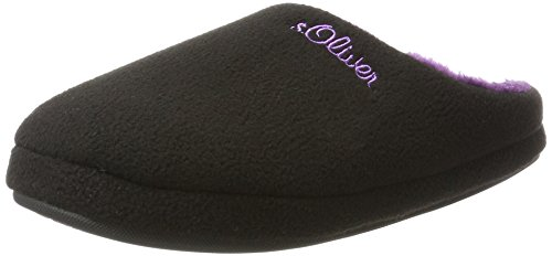 s.Oliver 27101, Pantofole Donna Nero (Black/purple)