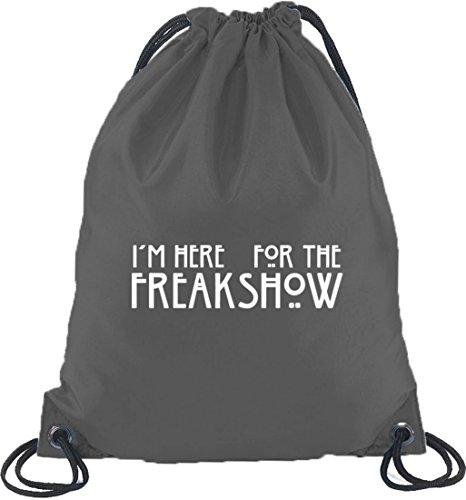Shirtstreet24, AHS - Freak Show, Turnbeutel Rucksack Sport Beutel Dunkelgrau