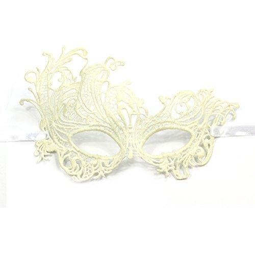 Preisvergleich Produktbild Damen Haarschmuck Elegant Janecrafts Maskerade Maske Cosplay Costume Holloween Kugeln Fancy Mask-Spitze-Motiv