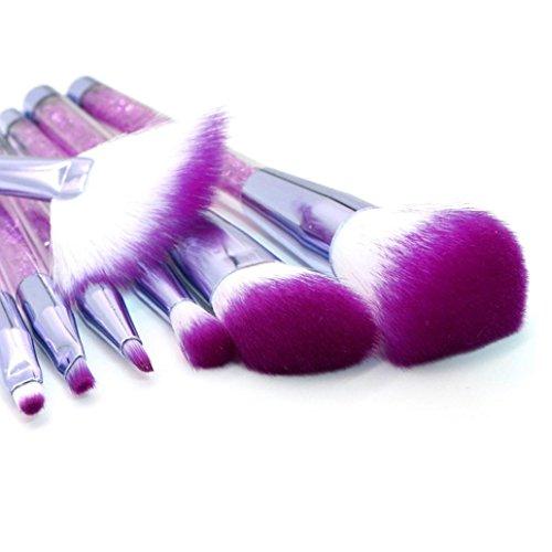 MEIbax 7 Stück Diamanten Make-up Pinsel Set Lidschatten Pinsel Kosmetik Blending Pinsel-Tool//Professionelle Kosmetik Make-up Pinsel Werkzeuge Kosmetik (Lila)