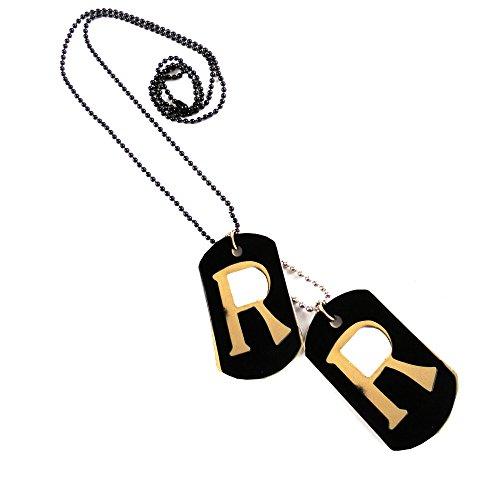 eshoppee R letter alphabet locket pendant necklace for man and women (r alphabet)