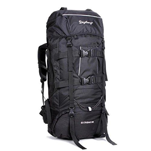 Z&N Backpack 80L Extra GroßE KapazitäT Outdoor Bergsteigen Tasche Fernreisen Camping Klettern Rucksack Wasserdichte Tear Racer Unisex GepäCk Tasche E