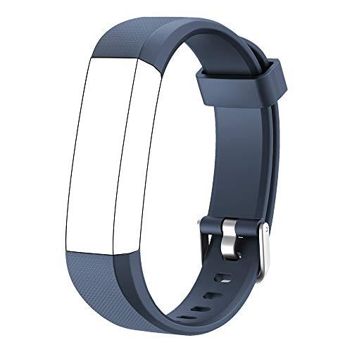 Muzili Verstellbares Ersatz-Armband für Fitness-Tracker, 5 Farben Schwarz, Pink, Grün, Blau, Lila, Blau
