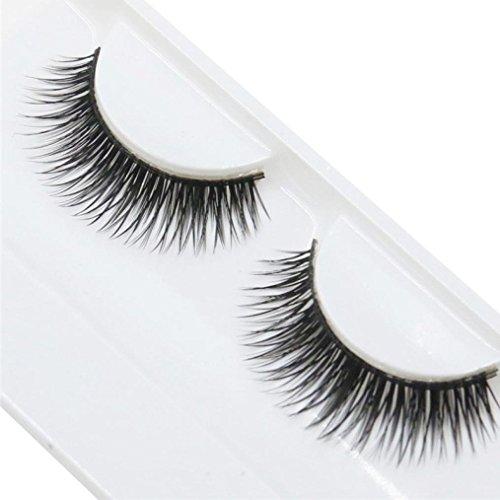Hot Faux cils. Xshuai (TM) 1 pcs Naturel Long Faux cils Beauté étanche extension dense volumineux cils Cluster Maquillage Femme noir noir
