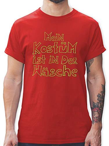 Der Komiker Zubehör Kostüm - Karneval & Fasching - Mein Kostüm ist in der Wäsche - XXL - Rot - L190 - Herren T-Shirt und Männer Tshirt