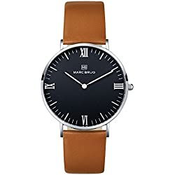 Marc Brüg Men's Minimalist Watch Paddington 41 Black Hygge
