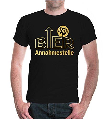 buXsbaum® T-Shirt Bierannahmestelle Black-Gold