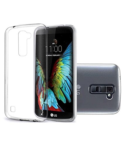 M.G.R.J [ LG K7 ] Ultra Thin 0.3mm Clear Transparent Flexible Soft TPU Slim Back Case Cover  available at amazon for Rs.109