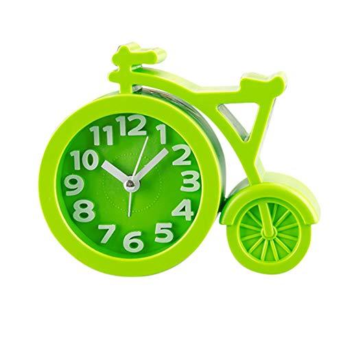 Dtuta Kreatives Fahrrad Wecker Laut Ohne Ticken Tischuhren Modern Batteriebetrieben Kreatives, Einfarbiges, Ruhiges Design