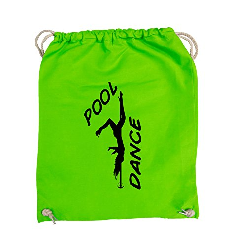 Comedy Bags - POOL DANCE - FIGUR - Turnbeutel - 37x46cm - Farbe: Schwarz / Silber Hellgrün / Schwarz