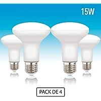 Volton - Pack 4 Bombillas Reflectoras R90 LED E27 15W 1350Lm 3000K Angulo 120º, no