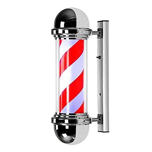 JNFDE Barber Pole Light Led, al Aire Libre Estilo clásico Salón de peluquería Giratorio Peluquería Letrero Abierto Rojo Blanco Azul Tiras Montado en la Pared Impermeable Ahorre energía 73cm / 29in.