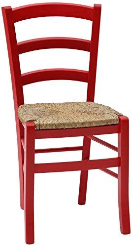 Fashion commerce 02-fc310r set di sedie, legno, rosso, 42x43x88 cm, 2 unità