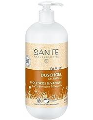 SANTE Naturkosmetik Duschgel Bio-Kokos & Vanille, Mit Pumpspender, Tropischer Duft, Reinigt sanft & gründlich, Vegan, 950ml
