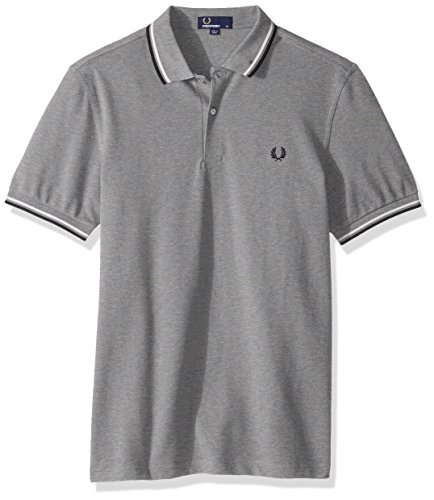Fred Perry Herren Poloshirt FP Twin Tipped Steel Marl
