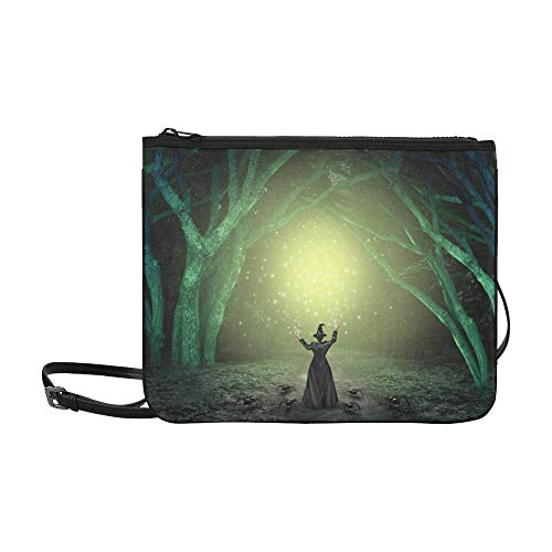 AGIRL Magical Witch Casting Zauberspruch Scary Custom High-Grade Nylon Slim Clutch Crossbody Tasche Umhängetasche