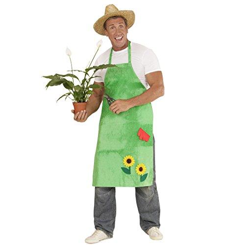 Imagen de delantal de jardinera con girasoles disfraz de jardinero verde bata para jardín floreada outfit granjera mandil floral complemento de flores granjero alternativa