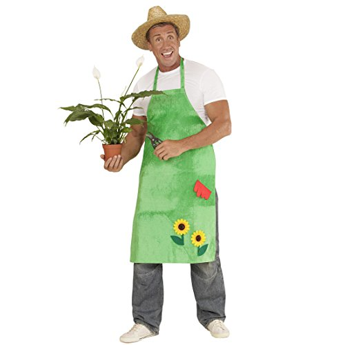 gaertnerkostuem NET TOYS Gärtner Kostüm Gartenschürze mit Sonnenblumen grün Blumen Kittel Schürze Garten Kittelschürze Blumenschürze Gärtnerin Bauer Bäuerin Outfit