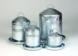 Horizont Küken- und Hühnertränke verzinkt, Fassungsvermögen 10 Liter