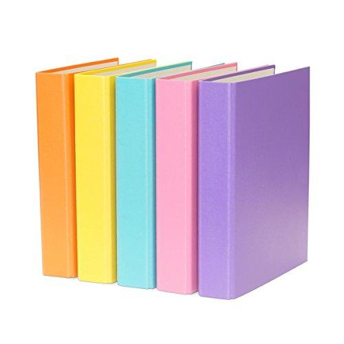 5x Ringbuch / DIN A5 / 2-Ring Ordner / je 1x gelb, lila, türkis, pink und orange (A5 Binder)