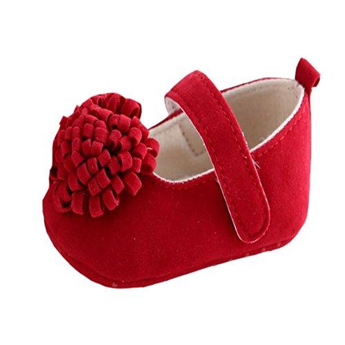 Mary Bebé Primeira Princesa Antiderrapante Jane Walker De Solado Macio Vermelho Com Berço Sapatos Flor qRA6vq