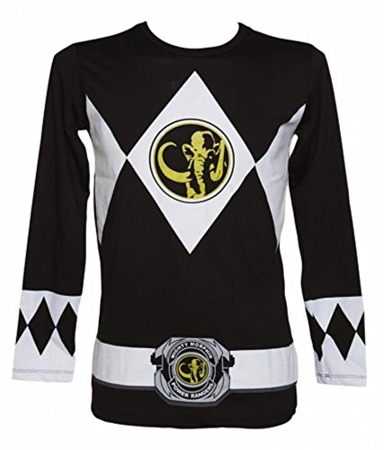 ng Sleeve Ranger Costume Black T-shirt (Adult Large) ()