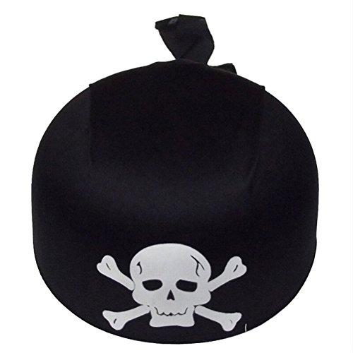 Pirat Hat Totenkopf und Gekreuzte Knochen Halloween Sammler Cap Pirate Party Hat (schwarz) ()