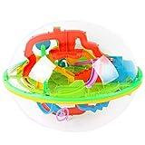 MKYVERAY 3D Laberinto Bola Pasatiempos con Laberinto Juegos de Educación Mágica Rompecabezas Intelecto Bola Laberinto para Niños Adultos