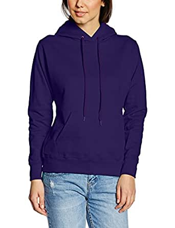 Fruit Of The Loom Women's SS068M Long Sleeve Hoodie, Purple, 8 (Manufacturer Size:X-Small)