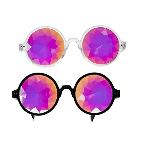 Kaleidoskop Gläser Rave Brille Rainbow Prisma Diffraktion Kaleidoscope Glasses EDM Festival Party Brille Sonnenbrille