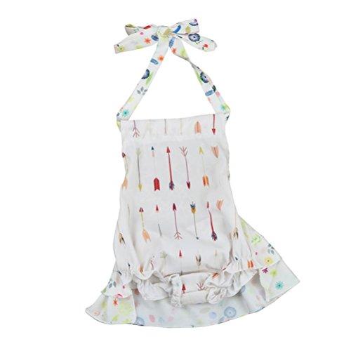 VENMO Kleinkind Neugeborenes Babypfeil Drucken Spielanzug Jumpsuit Outfits Kleidung (White, (Kleinkind Mermaid Outfit)