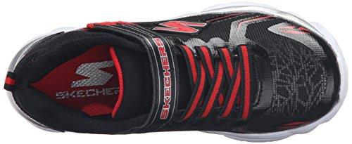 Skechers Electronz-Blazar Kids Fitness Trainers 95407N Lightwight black red strap Schwarz (Bkrd)