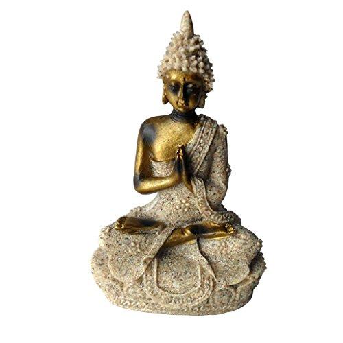 Sandstein Buddha Figur Statue Skulptur Dekor Steinfigur / Resorment Maitreya Bodhisattva Buddismus G�ttin Guanyin Statue Skulptur Handgefertigte Figur Feng Shui Dekor (Maitreya-statue)