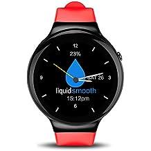 Reloj Celular con Andriod 5.1 WIFI GPS GooglePlay Map Electrónico Cámara Reloj Inteligente para Hombre y Mujer Reloj Deportivo con Podómetro monitor de la Frecuencia Cardiaca Impermeable IP67 Smartwatch Compatible con Andriod y IOS APP.