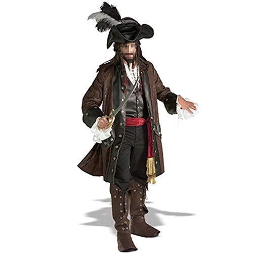Kostüm-Partei-Halloween-Kostüm Captain Jack Sparrow Erwachsene Piraten-Kostüm Fluch