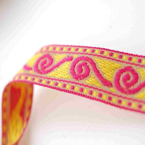 Ribbon Trim with Celtic Jacquard pattern for Sewing or Hobby