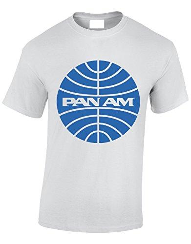 80992edfa98c8b Crown Designs Pan Am Serie de Drame Avion Americain Cadeau pour Hommes Et  Adolescents T-