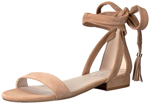 Kenneth Cole New York Damen Flache Sandale, Lederfarben, 37.5 EU Ankle Wrap Strappy