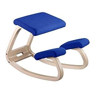 Varier - Sedia ergonomica originale Balans, in legno di faggio laccato e tessuto, 52 x 72 x 51 cm, colore: Blu